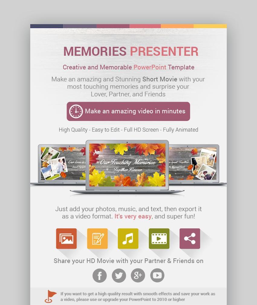 Memories Presenter PowerPoint Template
