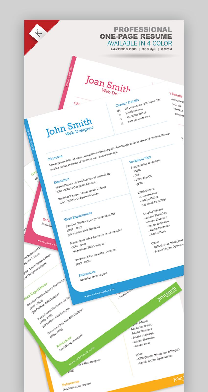 Professional One-Page Resume Template