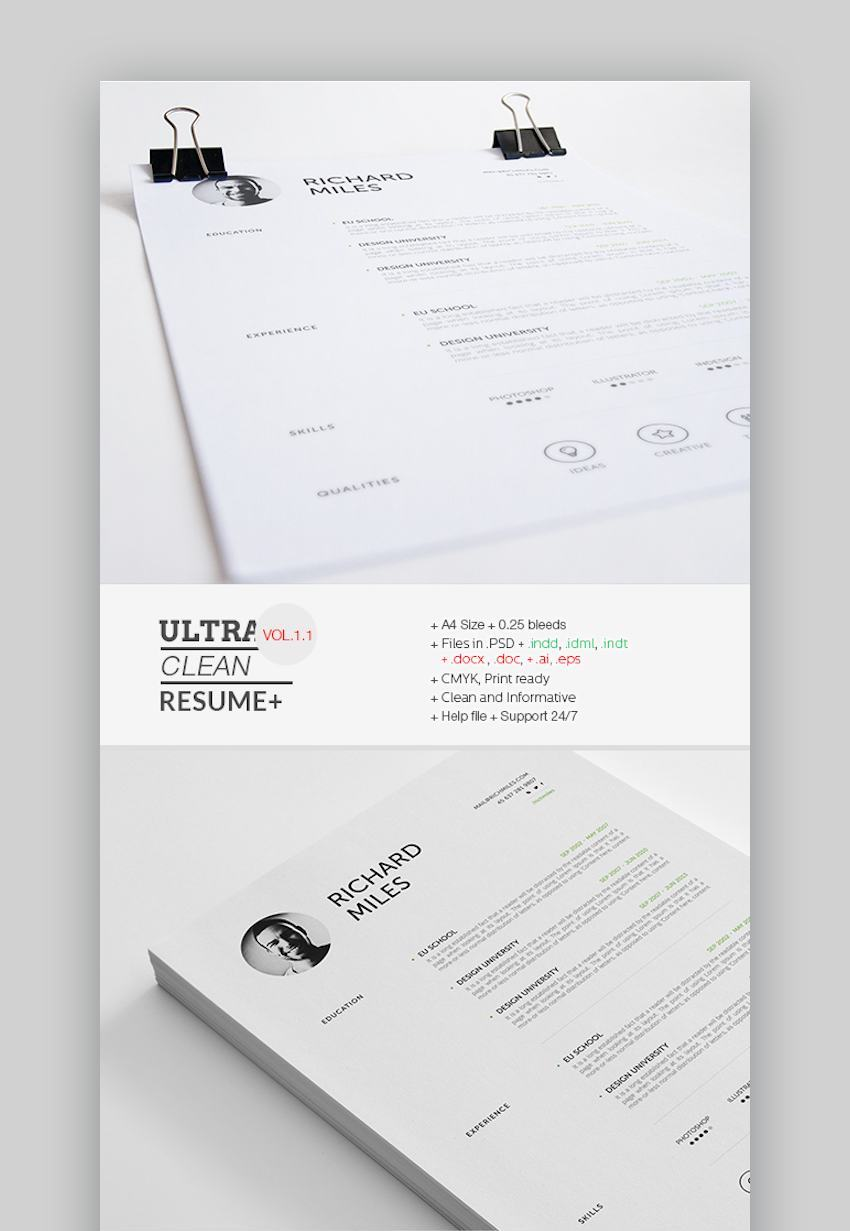 Ultra Clean Resume for Actors