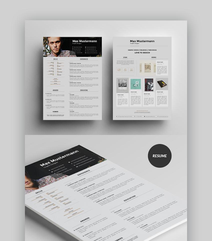 Resume Template with Portfolio Page