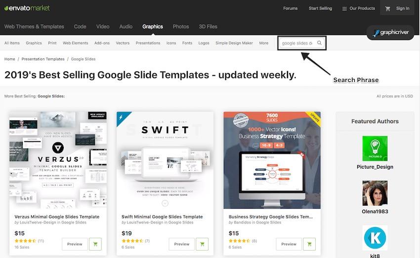 Change Google Slide - Search for a Google Slides Theme