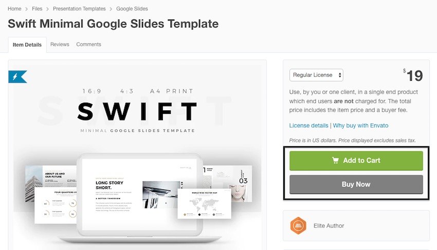 Swift Minimal template Google Slides Themes