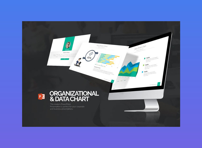 Organizational  Data Chart Presentation Template