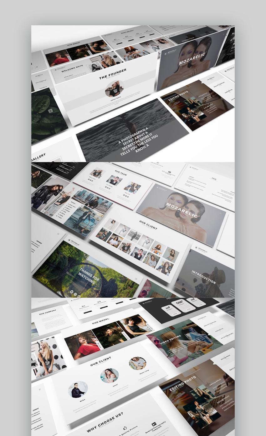 Mozarelic Photography Google Slides Template