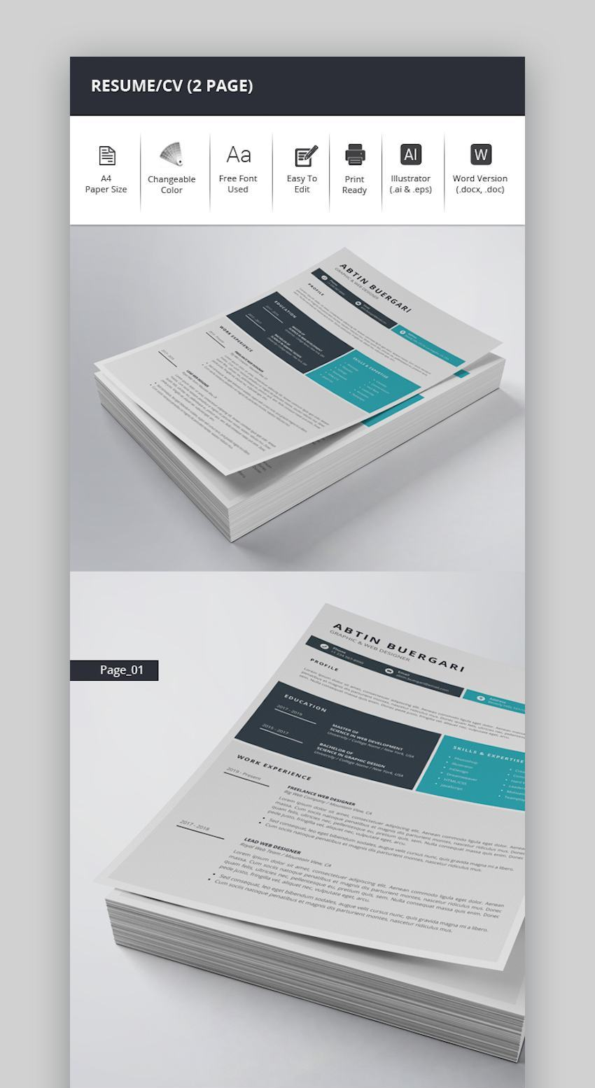 ResumeCV 2 Page