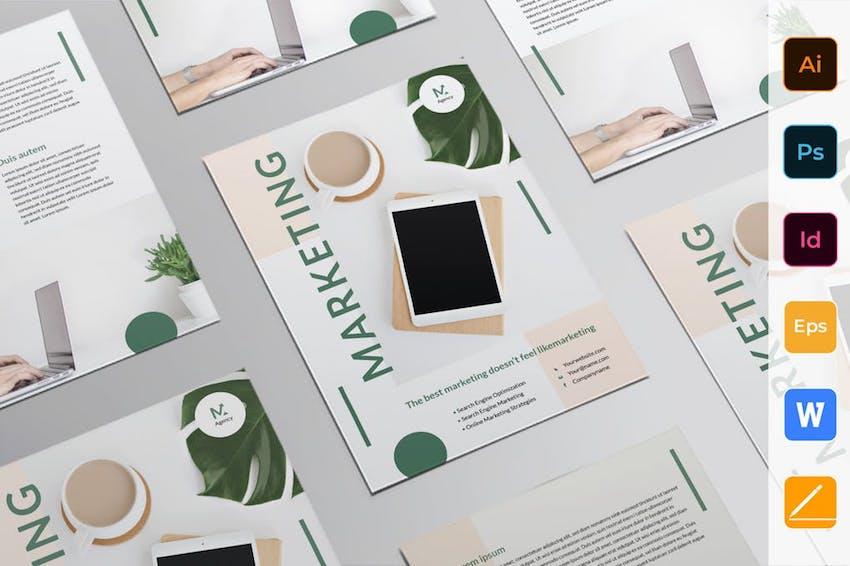 Flyer Template for Word - Digital Marketing Agency