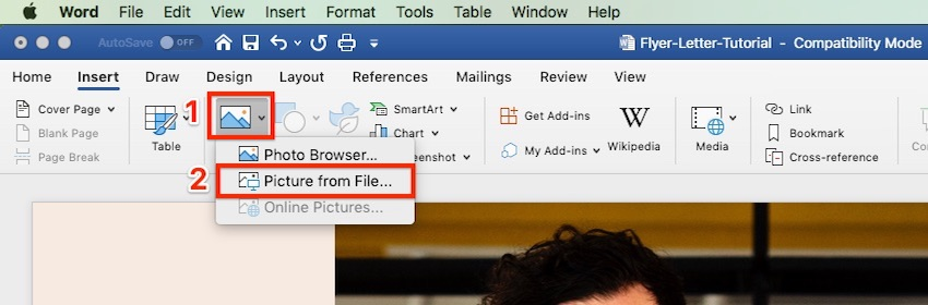Create a flyer in Word by adding logos