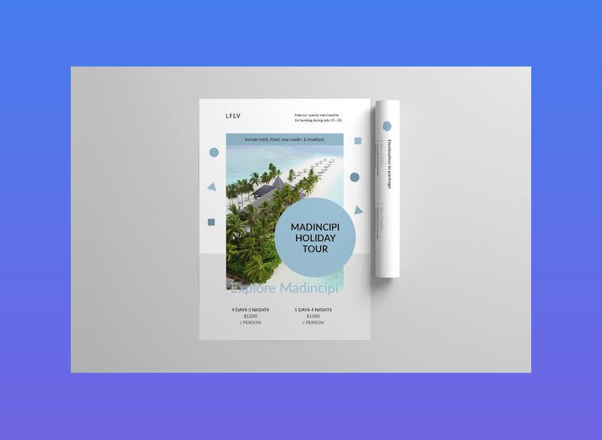 Travel Flyer Template for Word