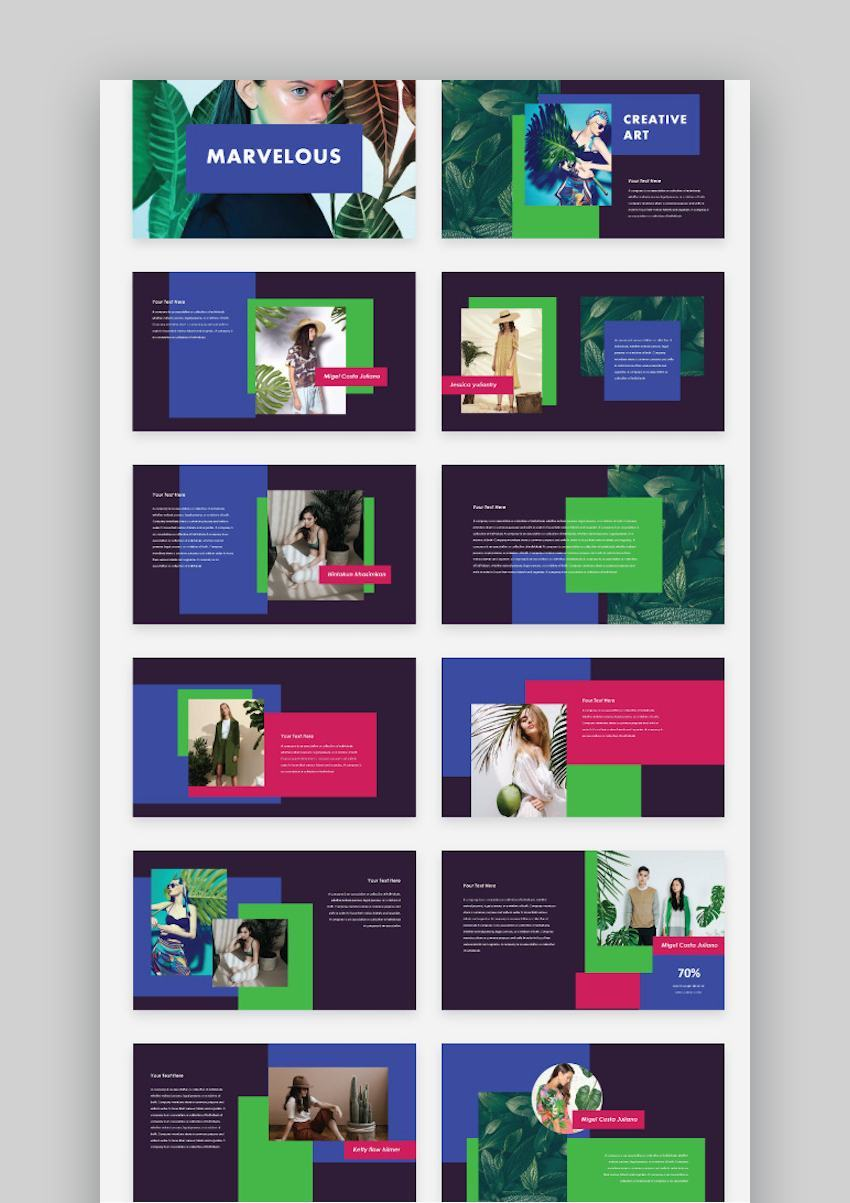 Marvelous - Creative  Colorful Google Slide Template