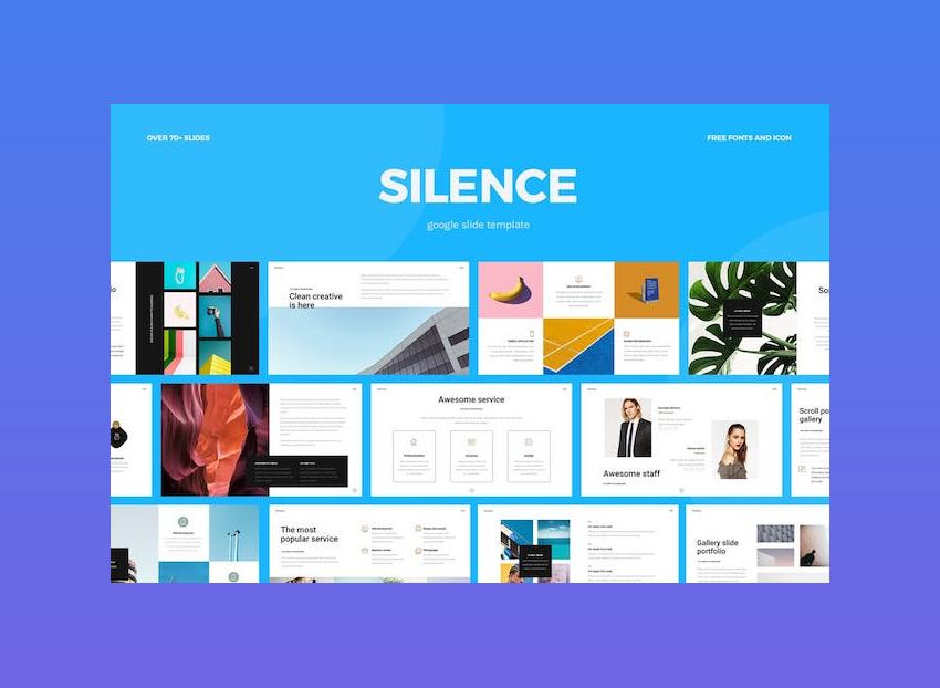 Silence - Google Slide Template with Animation