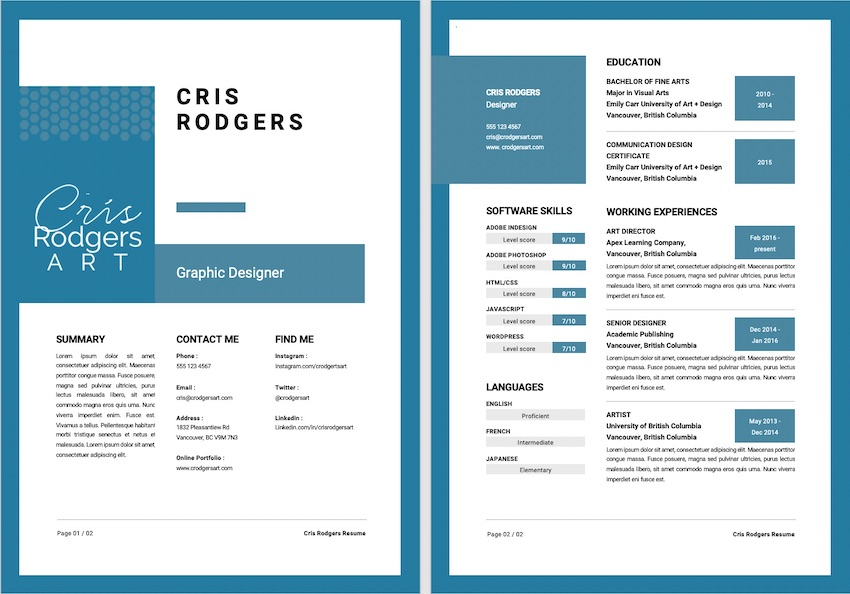 25 Unique Resume Templates With Interesting Resume Ideas