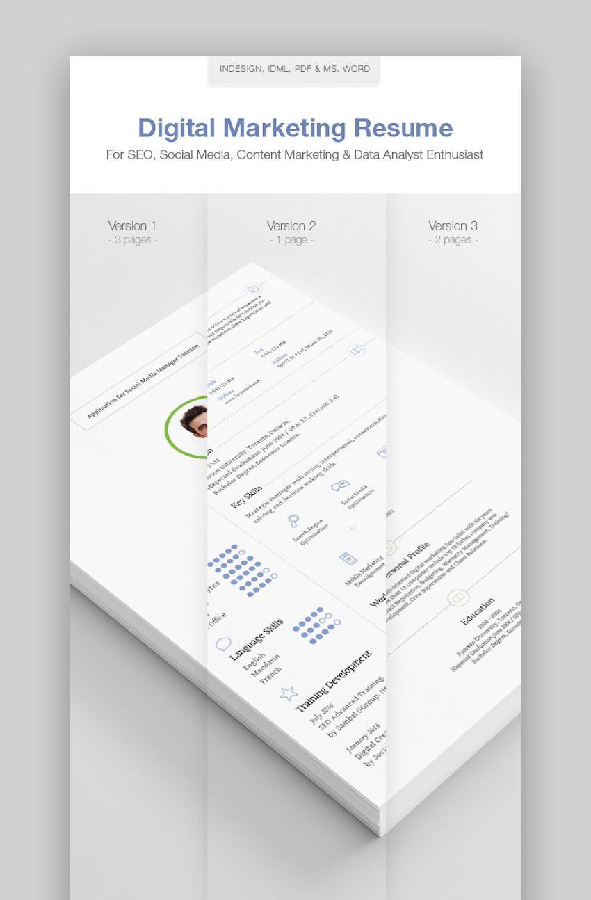Unique Resume Templates - Marketer and Digital Marketing