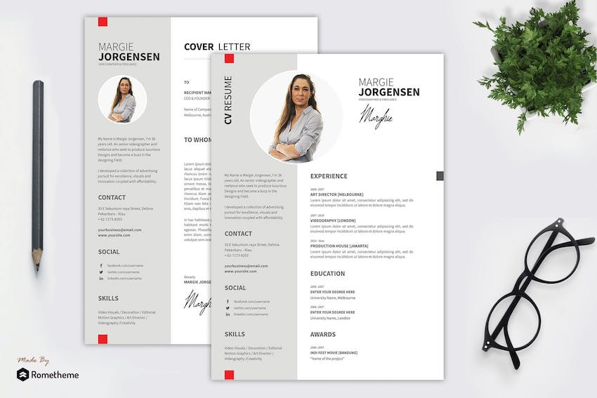 Margie - Creative Resume Template