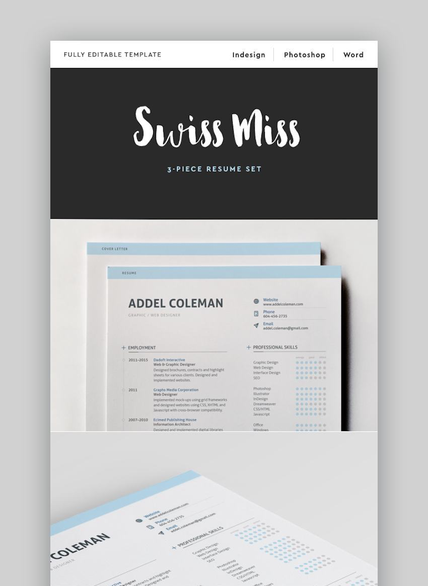 ResumeCV - Swiss Miss Creative Resume Template