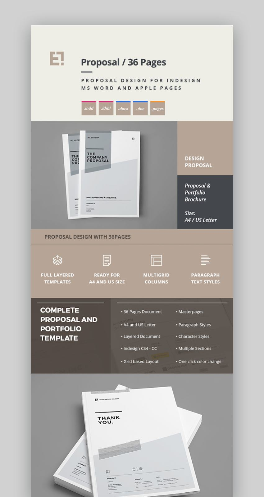 Proposal Design with 36 Pages