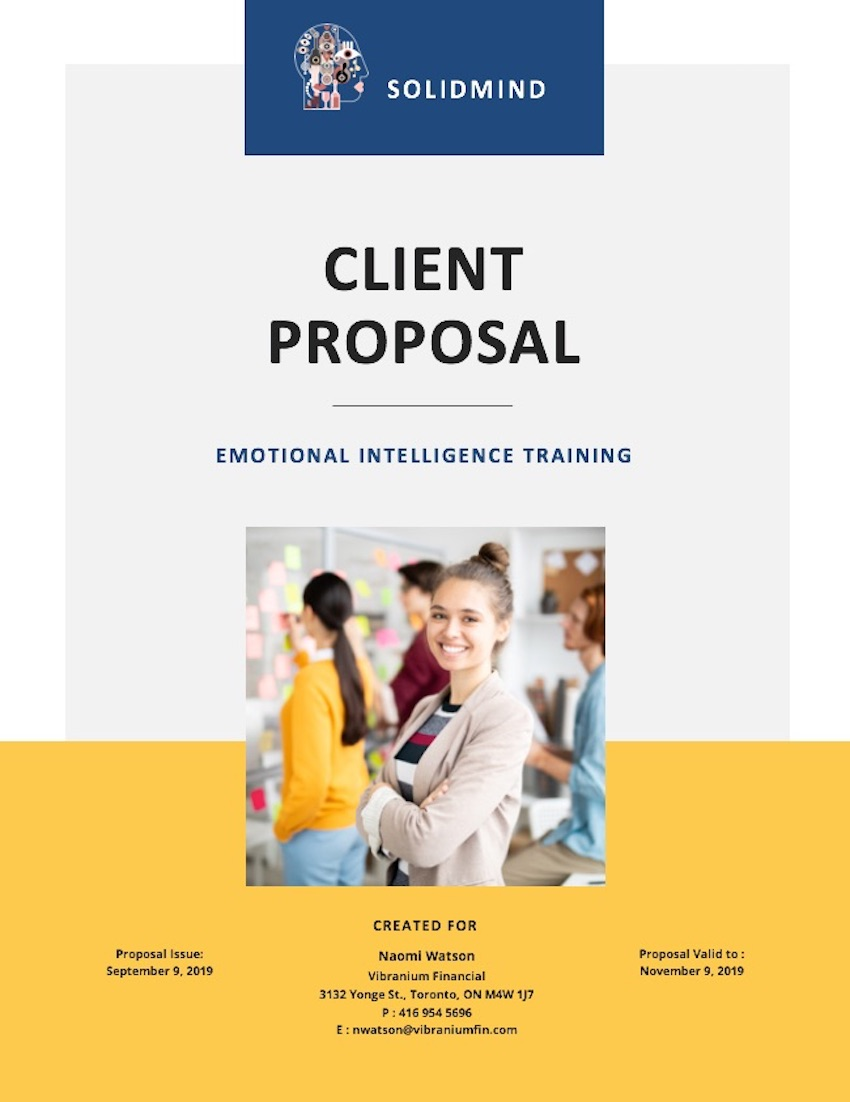 Consulting Proposal Template - Cover Page Customized