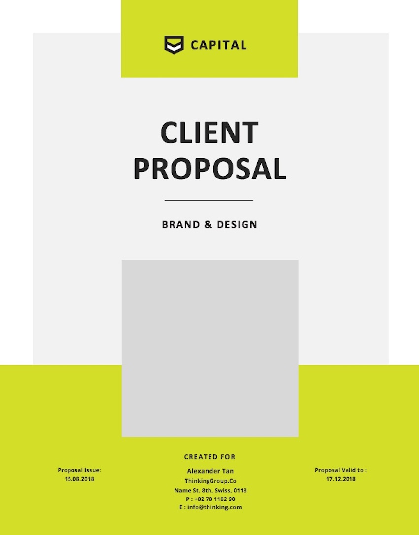 Consulting Proposal Template - Cover Page