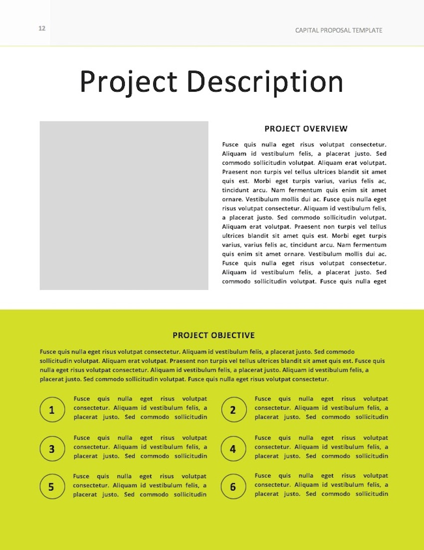 Consulting Proposal Template - Description Page