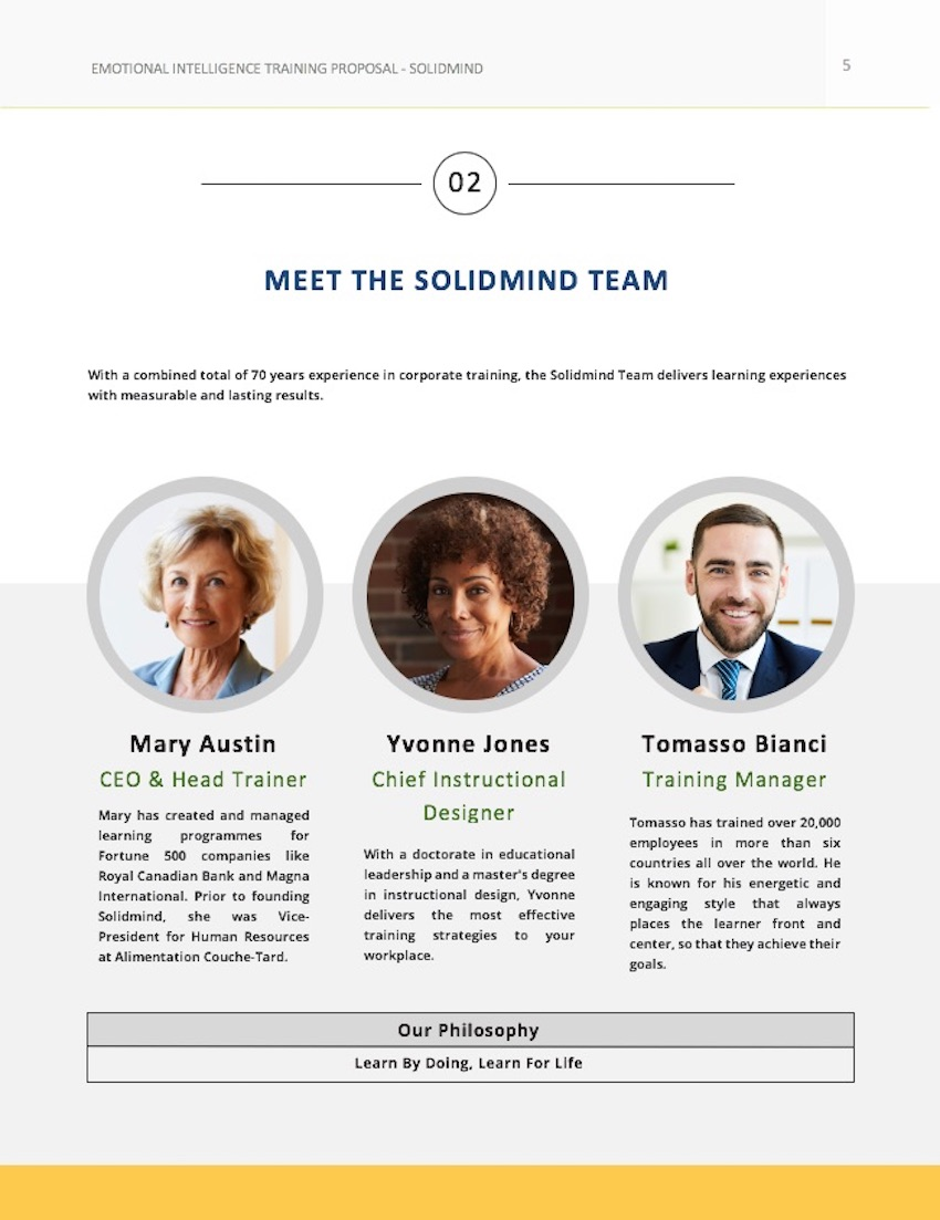 Consulting Proposal Template - Team Page Customized