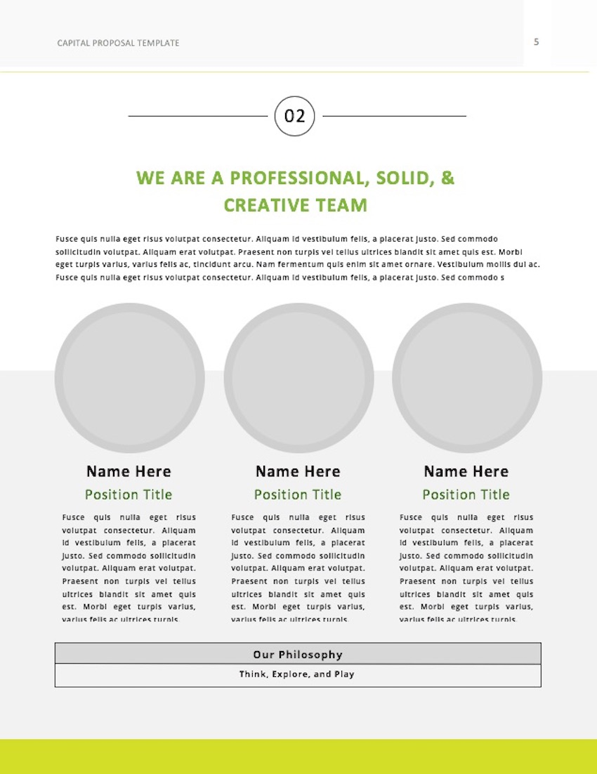 Consulting Proposal Template - Team Page