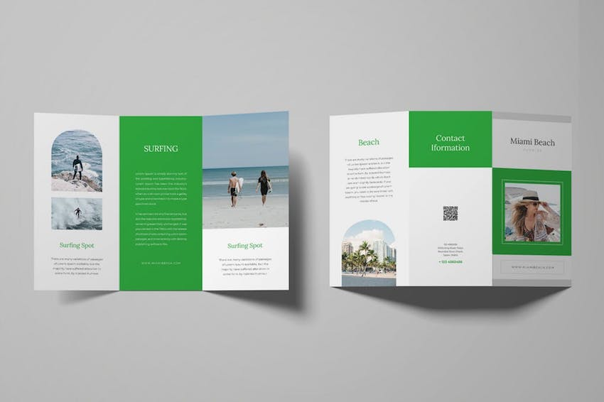 Surfing Trifold Brochure