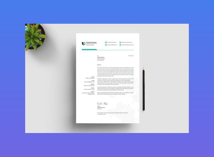 Letterhead Template 03 for Word