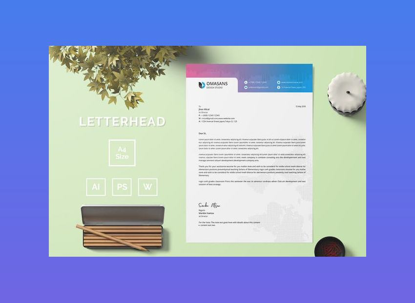 Letterhead Template 04 for Word