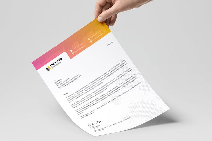 Letterhead Template Word from Envato Elements