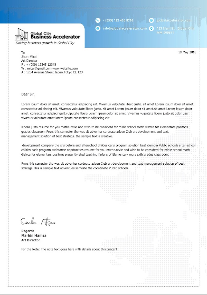 20 Best Free Microsoft Word Corporate Letterhead Templates