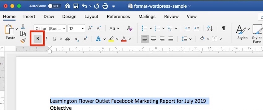 Typographic Emphasis in Microsoft Word