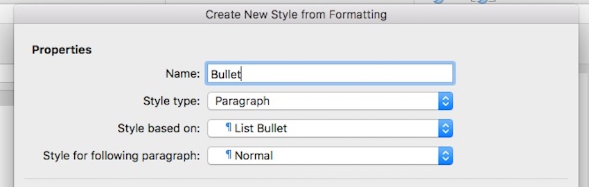 Create New Paragraph Style in Word