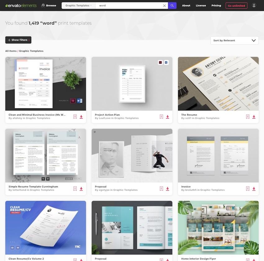 Microsoft Word Templates - Envato Elements