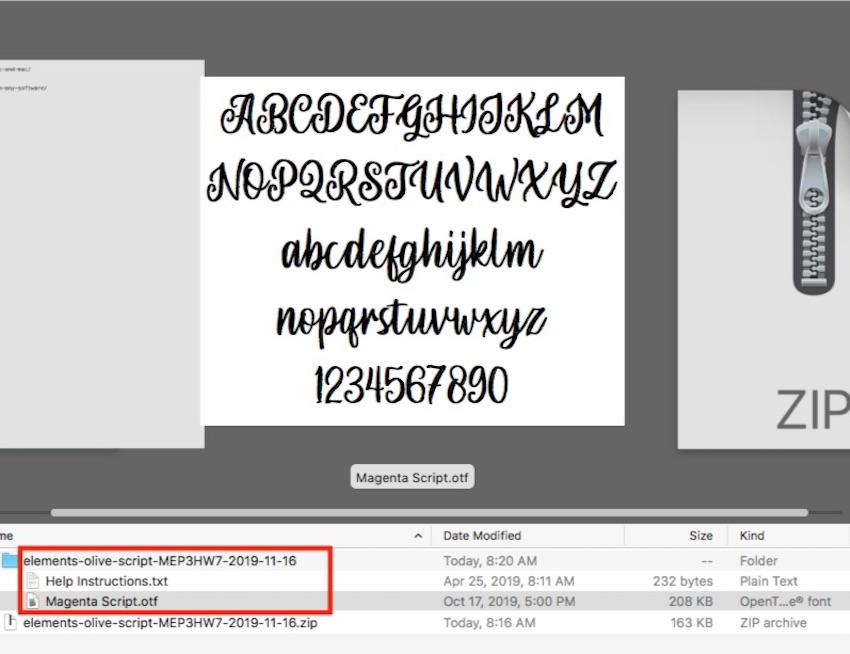 Add font to Microsoft Word - Unzipped file