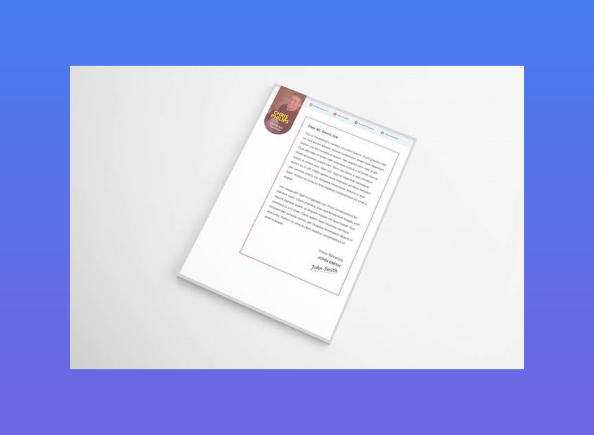 Stylish Cover Letter Template for Word