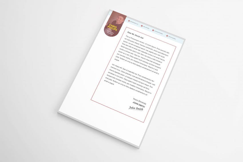 Cover letter template Word Doc - Stylish