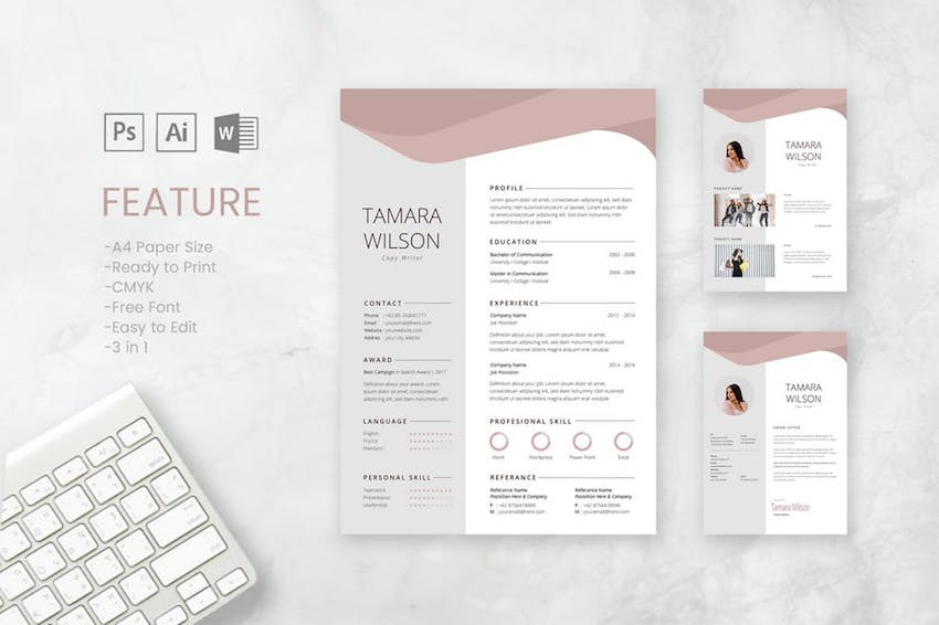 20 Best Free Microsoft Word Resume Cv Cover Letter Templates 2020