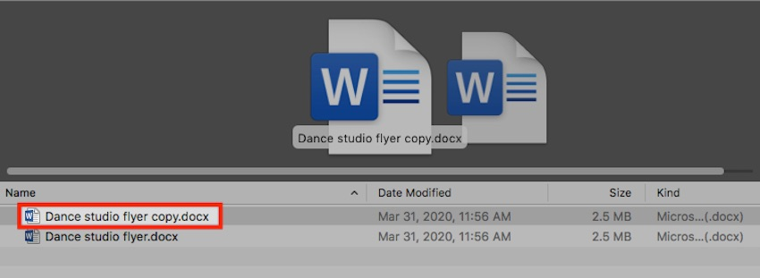 MS Word templates - duplicate template files