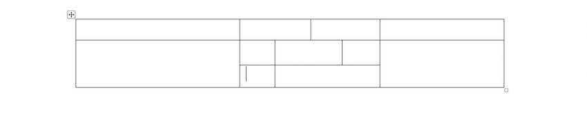 Microsoft Word table - Drawing a Table