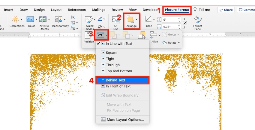 How to add border in Word - Wrap text