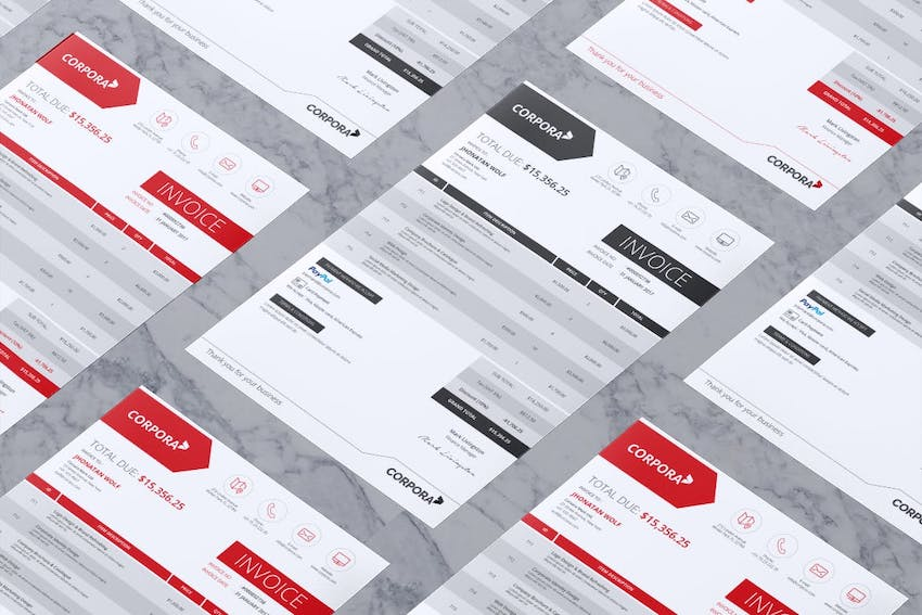 Invoice receipt template for Word