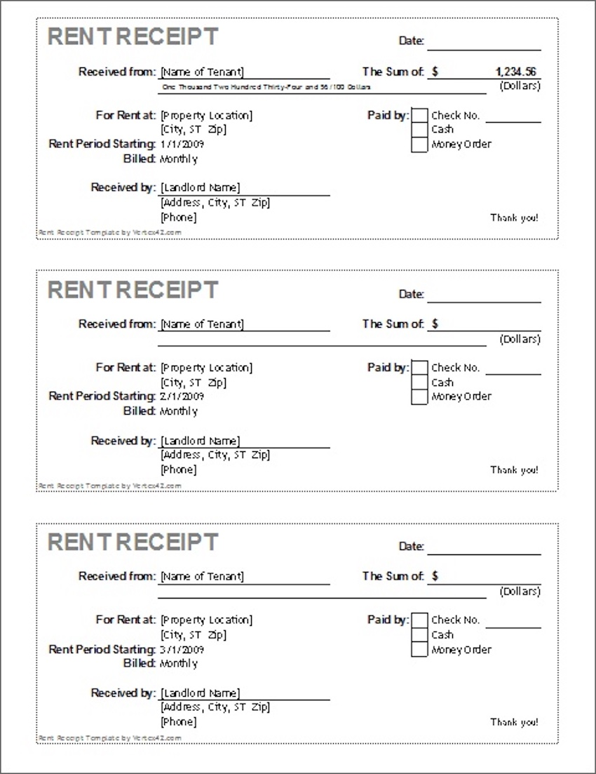 30 Best Free Microsoft Word Receipt Templates to Download