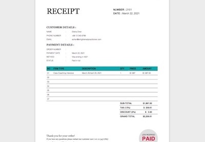 20 Best Free Microsoft Word Receipt Templates To Download