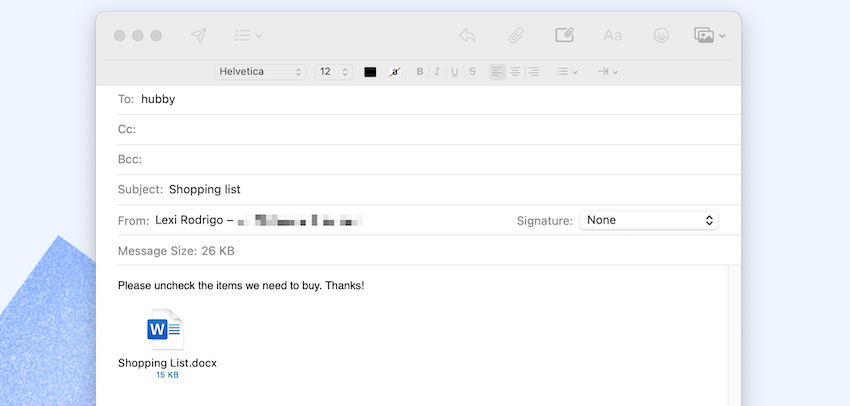insert checkbox in word - send form as email attachment