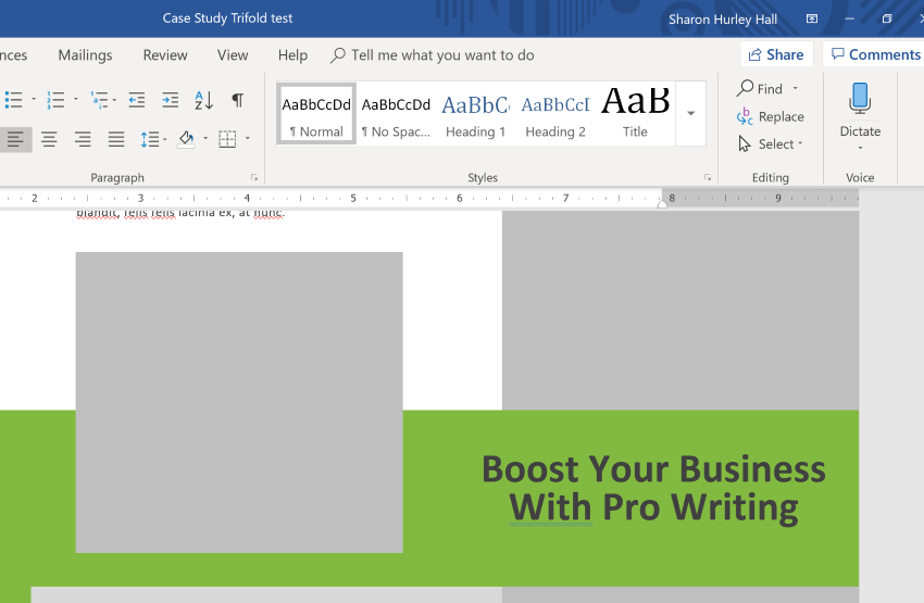 Making A Brochure In Word Headline