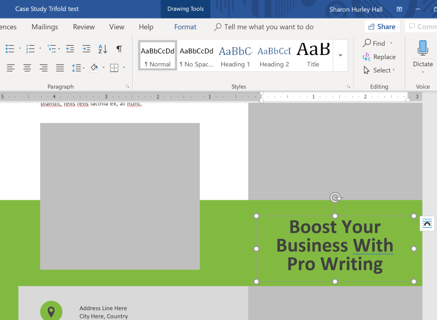 How To Quickly Make A Brochure In Microsoft Word Using A Template
