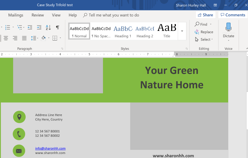 Tri Fold Brochure Template Word | How To Quickly Make A Brochure In Microsoft Word Using A Template