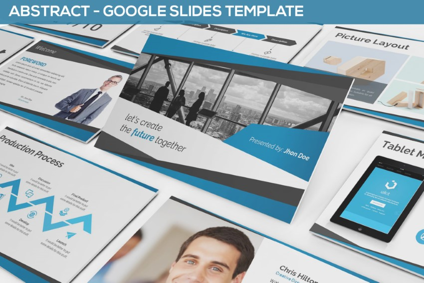 Abstract Google Slides infographic template
