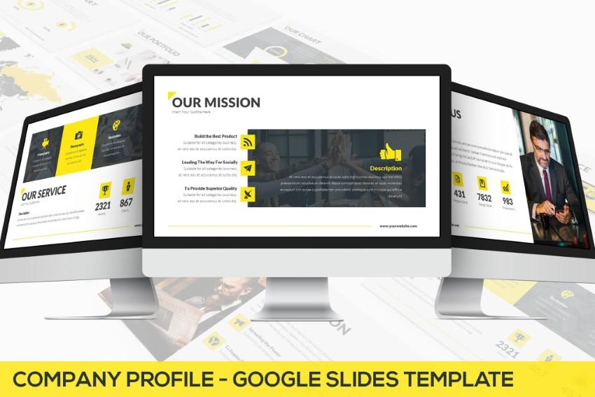 Company profile infographic presentation slides