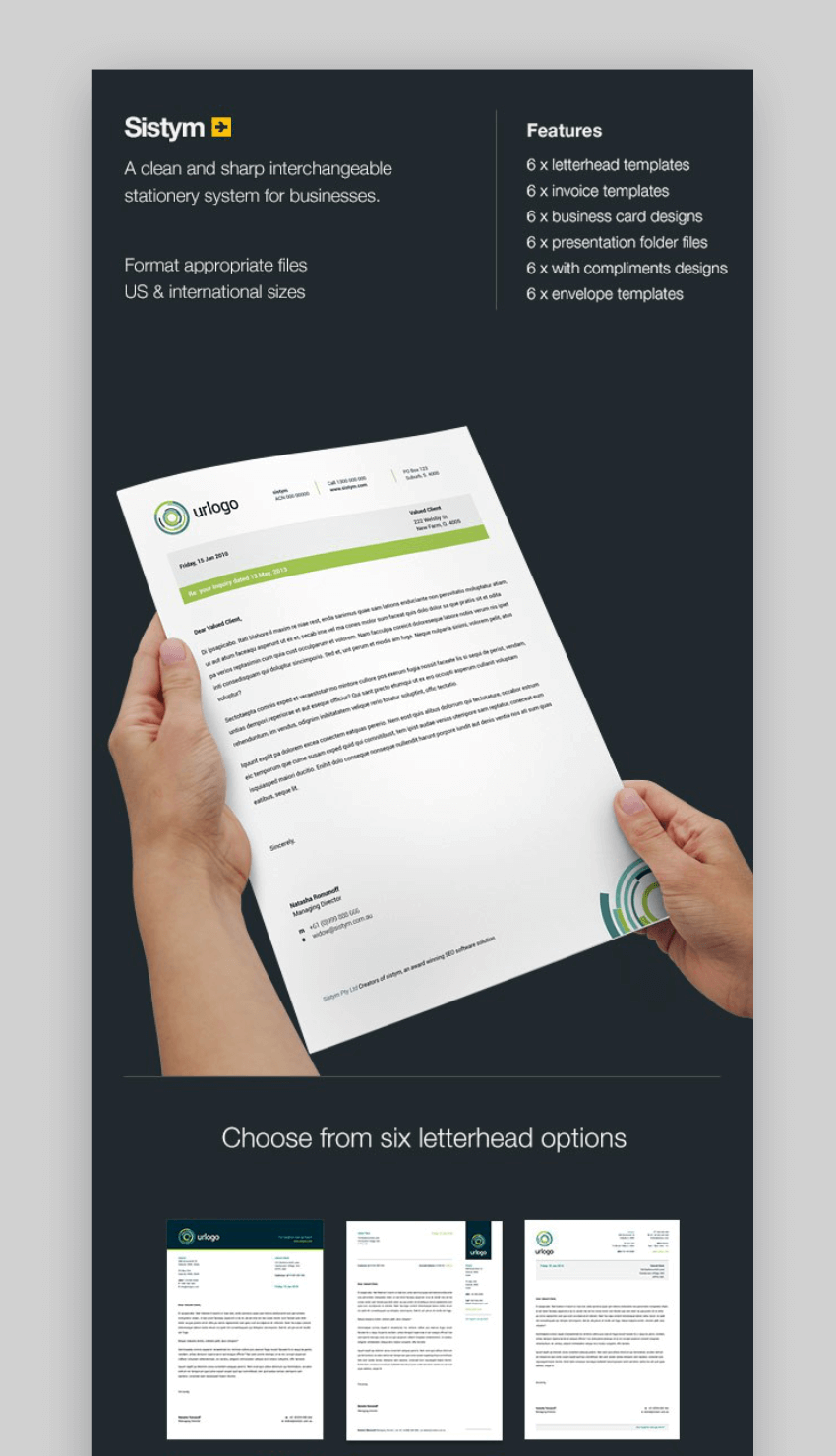 Systym - Stationery letterhead templates