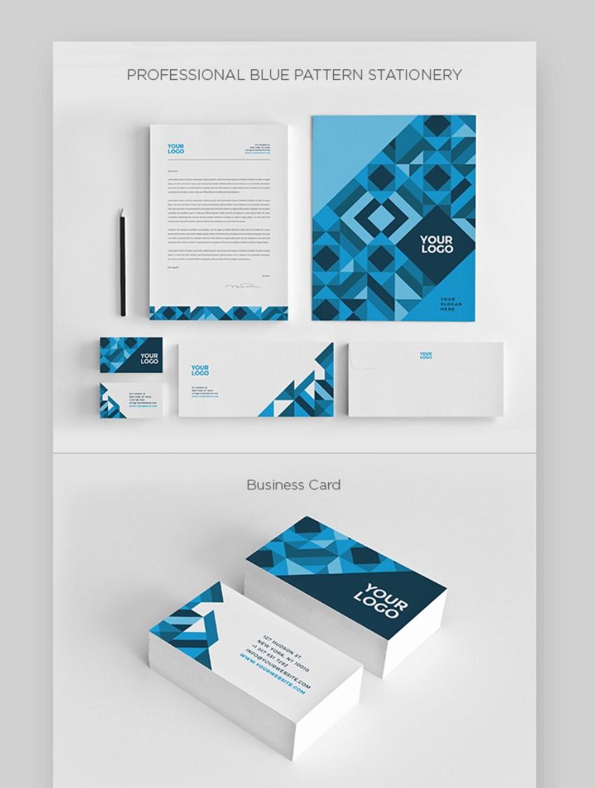 Blue letterhead templates